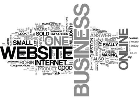 streamers: WHAT DOES YOUR WEBSITE SAY ABOUT YOUR BUSINESS TEXT WORD CLOUD CONCEPT