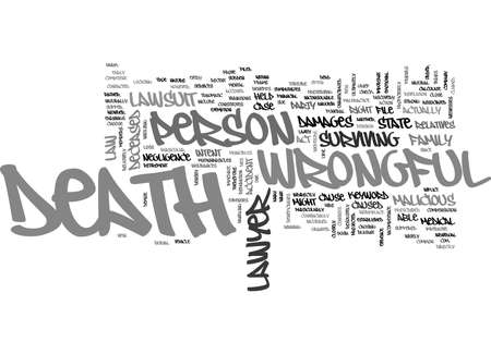 WRONGFUL DEATH LAWYER TEXT WORD CLOUD CONCEPT