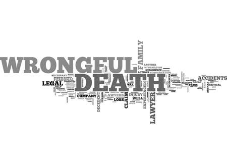 wrongful: WRONGFUL DEATH LAWYERS TEXT WORD CLOUD CONCEPT