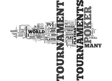 prestige: WSOP AND POKER TOURNAMENTS TEXT WORD CLOUD CONCEPT