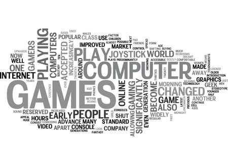 WHO PLAYS COMPUTER GAMES TEXT WORD CLOUD CONCEPT