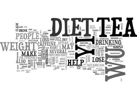 WU YI DIET TEXT WORD CLOUD CONCEPT
