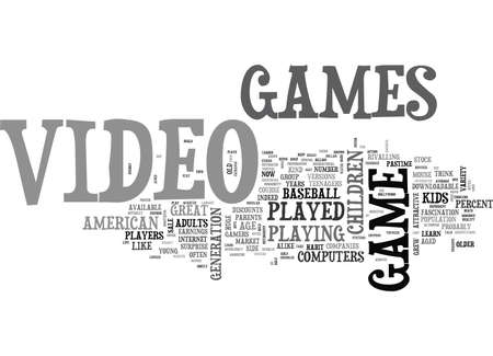 sprung: WHO PLAYS VIDEO GAMES TEXT WORD CLOUD CONCEPT Illustration