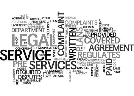 WHO REGULATES PRE PAID LEGAL PLANS TEXT WORD CLOUD CONCEPT