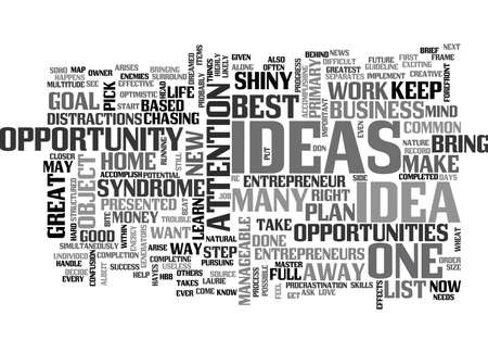 WHAT EVERY HOME BASED BUSINESS OWNER NEEDS TO KNOW ABOUT SHINY OBJECT SYNDROME TEXT WORD CLOUD CONCEPT