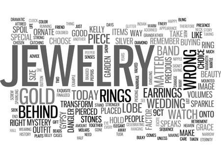 X FACTOR JEWELRY COMES WITH THE FEEL GOOD FACTOR TEXT WORD CLOUD CONCEPT Иллюстрация