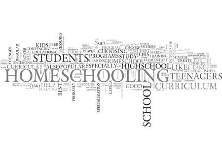 homeschooling: WHO SAID HOMESCHOOL IS FOR KIDS ONLY IT S FOR HIGHSCHOOLS TOO TEXT WORD CLOUD CONCEPT