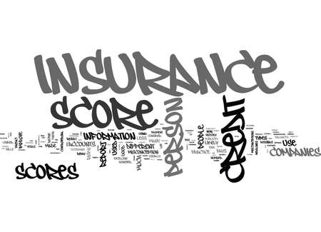 WHAT EXACTLY IS AN INSURANCE CREDIT SCORE TEXT WORD CLOUD CONCEPT Illustration