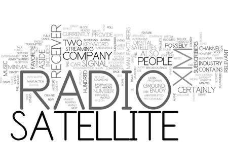 xm: XM SATELLITE RADIO RECEIVER TEXT WORD CLOUD CONCEPT