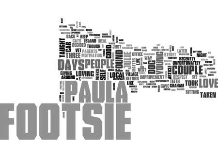 WHAT FOOTSIE TAUGHT US TEXT WORD CLOUD CONCEPT Illustration