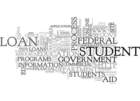 federally: WHAT FUTURE UNDERGRADS OUGHT TO KNOW ABOUT STUDENT LOANS AND ONLINE RESOURCES TEXT WORD CLOUD CONCEPT