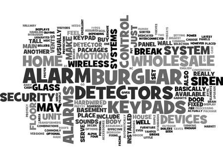 WHOLESALE BURGLAR ALARM TEXT WORD CLOUD CONCEPT