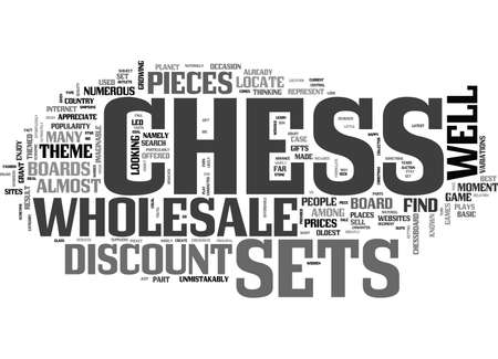 WHOLESALE CHESS SETS AND PARTS TEXT WORD CLOUD CONCEPT