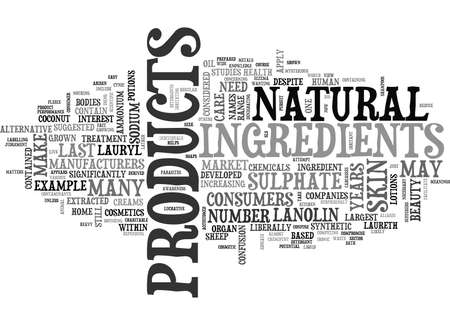 WHAT GOES INTO SKIN CARE PRODUCTS TEXT WORD CLOUD CONCEPT Illustration