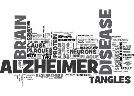 WHAT HAPPENS IN THE BRAIN OF AN ALZHEIMER S PATIENT TEXT WORD CLOUD CONCEPT