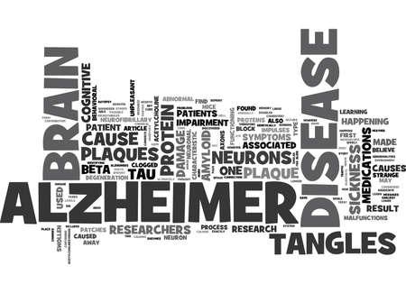 WAT GEBEURT ER IN DE HERSENEN VAN EEN ALZHEIMER S PATIËNT TEKST WORD CLOUD CONCEPT