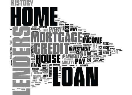 テキスト WORD クラウドの概念は自家所有者になるの探して、住宅ローンの貸し手  イラスト・ベクター素材