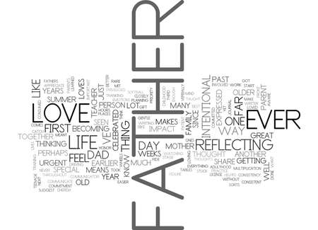 WHAT I LOVE ABOUT MY FATHER TEXT WORD CLOUD CONCEPT 向量圖像