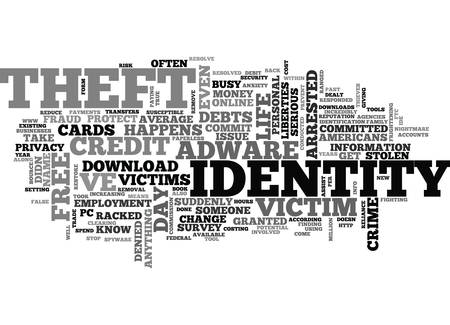 dealt: WHAT IDENTITY THEFT CAN DO TO YOU TEXT WORD CLOUD CONCEPT