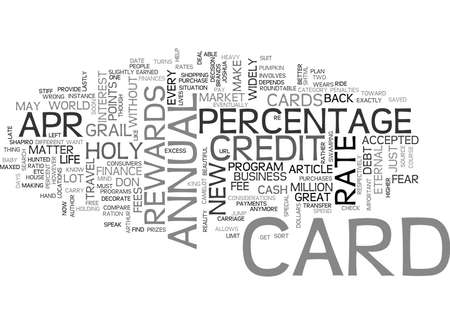 WHAT IS A APR CREDIT CARD TEXT WORD CLOUD CONCEPT