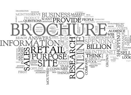WHAT IS A BROCHURE SITE TEXT WORD CLOUD CONCEPT