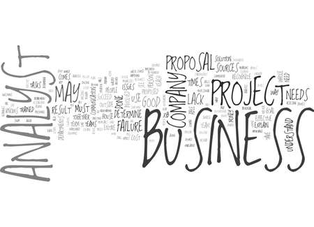 proposed: WHAT IS A BUSINESS ANALYST TEXT WORD CLOUD CONCEPT