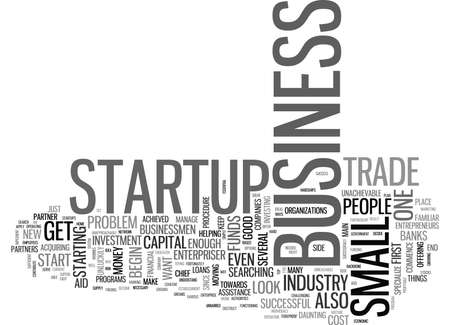 WHAT IS A BUSINESS STARTUP TEXT WORD CLOUD CONCEPT