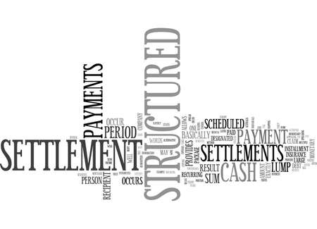 WHAT IS A CASH STRUCTURED SETTLEMENT TEXT WORD CLOUD CONCEPT