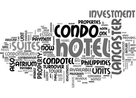 WHAT IS A CONDOTEL TEXT WORD CLOUD CONCEPT