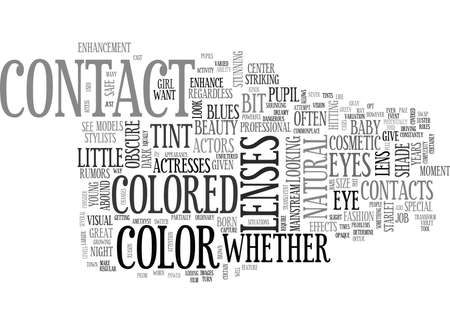 WHAT IS A COSMETIC CONTACT LENS AND WHAT S IT USED FOR TEXT WORD CLOUD CONCEPT Banco de Imagens - 79579120