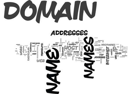 WHAT IS A DOMAIN NAME TEXT WORD CLOUD CONCEPT