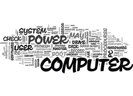 YOUR CHECKLIST ON HOW TO REVIVE A DEAD COMPUTER TEXT WORD CLOUD CONCEPT