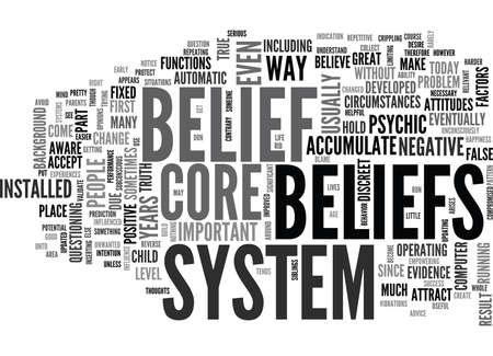 YOUR CORE BELIEF TEXT WORD CLOUD CONCEPT