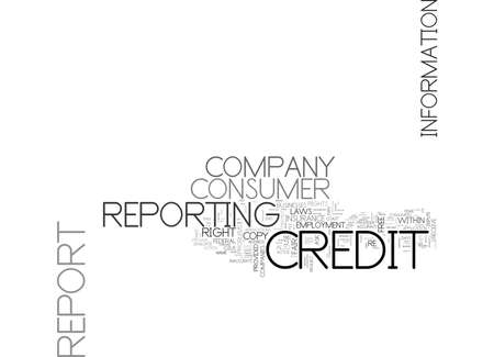YOUR CREDIT AND YOUR RIGHTS TEXT WORD CLOUD CONCEPT 向量圖像