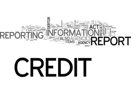YOUR CREDIT CAN BE YOUR LIFE TEXT WORD CLOUD CONCEPT