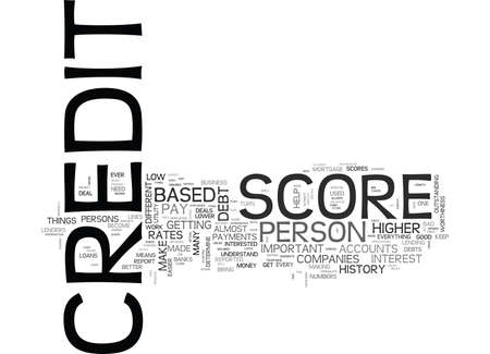 YOUR CREDIT SCORE DOS AND DONTS TEXT WORD CLOUD CONCEPT