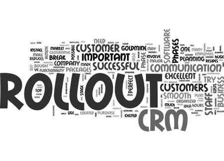 bought: YOUR CRM ROLLOUT TEXT WORD CLOUD CONCEPT