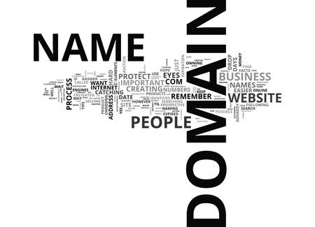 YOUR DOMAIN JUST THE FACTS TEXT WORD CLOUD CONCEPT