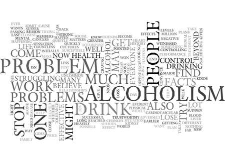 YOUR FACTS ALCOHOLISM IS A SERIOUS PROBLEM YOU MIGHT HAVE TEXT WORD CLOUD CONCEPT