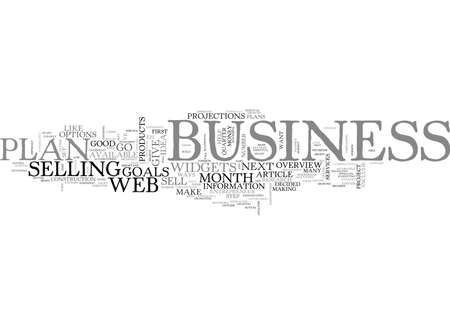WEB BUSINESS OVERVIEW HAVE A PLAN TEXT WORD CLOUD CONCEPT