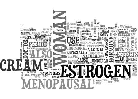 WHAT ESTROGEN CREAM CAN DO FOR YOU TEXT WORD CLOUD CONCEPT