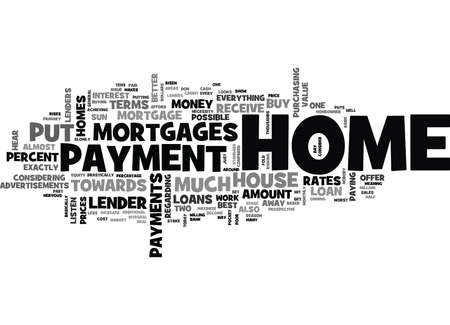 afford: WHAT IS A DOWN PAYMENT FOR A HOUSE TEXT WORD CLOUD CONCEPT