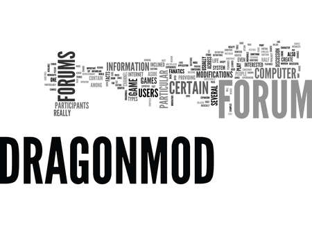 WHAT IS A DRAGONMOD FORUM TEXT WORD CLOUD CONCEPT Ilustração