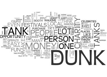WHAT IS A DUNK TANK TEXT WORD CLOUD CONCEPT Illustration
