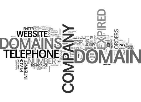 WHAT IS AN EXPIRED DOMAIN TEXT WORD CLOUD CONCEPT