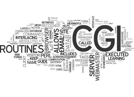 WHAT IS CGI THAT THE HECK TEXT WORD CLOUD CONCEPT Illustration