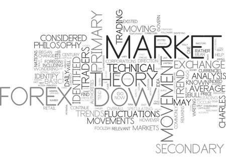 WHAT IS DOW THEORY TEXT WORD CLOUD CONCEPT