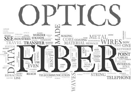 imply: WHAT IS FIBER OPTICS TEXT WORD CLOUD CONCEPT Illustration