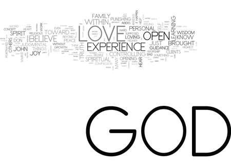 하나님은 무엇인가 신의 말씀 단어 개념 클라우드 개념