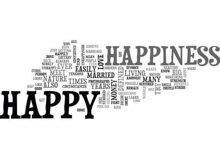 WHAT IS HAPPINESS TEXT WORD CLOUD CONCEPT